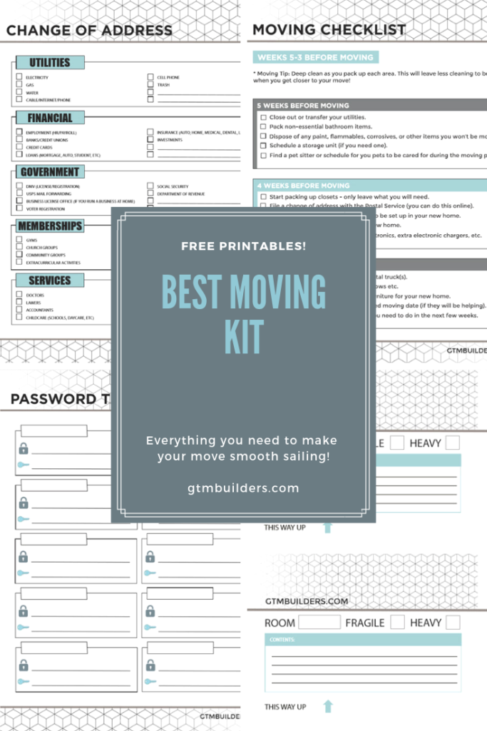 graphic regarding Printable Moving Labels identify Free of charge printable transferring binder downloadable package inlcuding