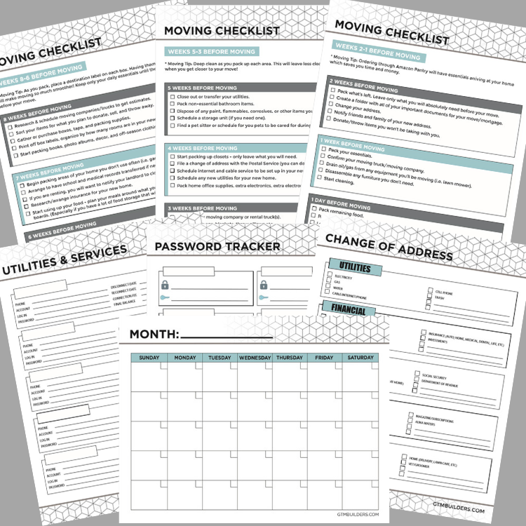 photo about Free Printable Organizing Sheets identified as No cost printable relocating binder downloadable package inlcuding